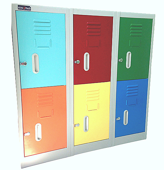 locker de 6 casilleros porta candado standard color - Muebles Easy Hub